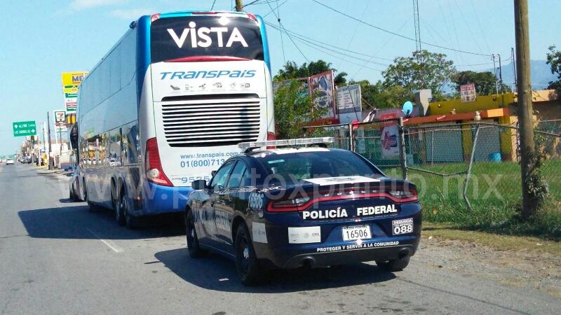 RETIENE EN ALLENDE LA PFP AUTOBÚS DE PASAJEROS EN BUSCA DE INDOCUMENTADOS