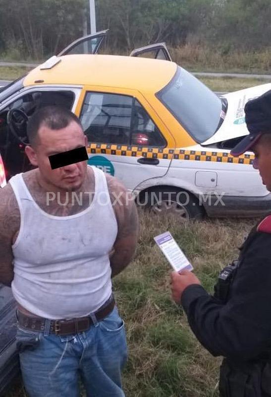 DESDE HUALAHUISES ESCAPABAN DE FUERZA CIVIL LOS DETIENEN EN MONTEMORELOS, LES ENCUENTRAN DROGA Y MUNICIONES.
