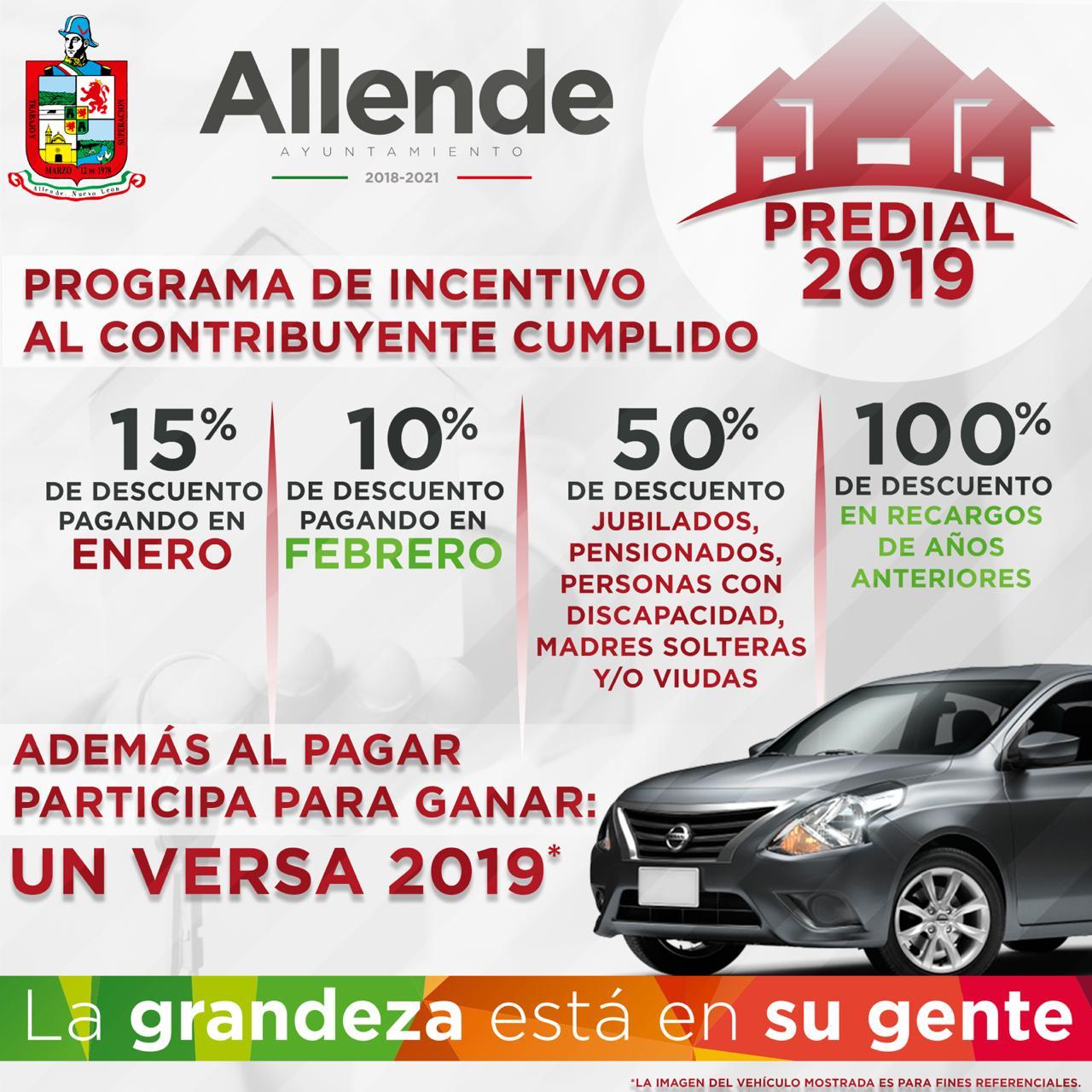 INVITAN A PAGAR IMPUESTO PREDIAL 2019 EN ALLENDE NL